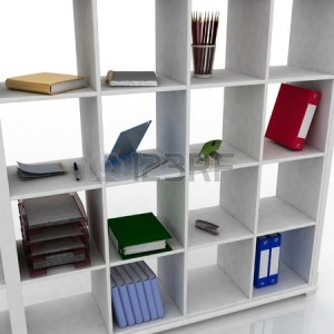 11949131-3d-book-shelf-with-instruments-for-office